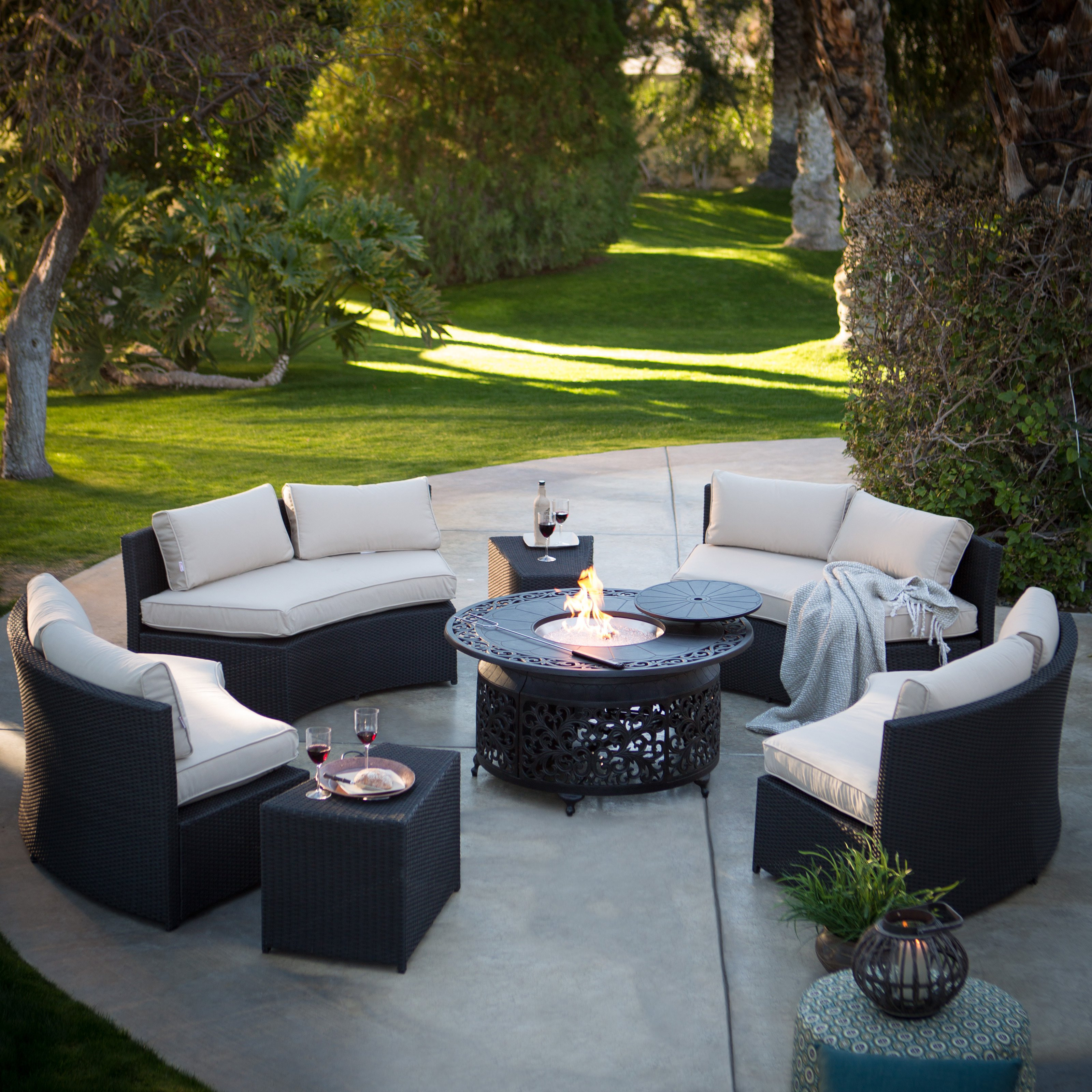 Best ideas about Outdoor Fire Pit Sets . Save or Pin Belham Living Meridian Fire Pit Chat Set Fire Pit Patio Now.
