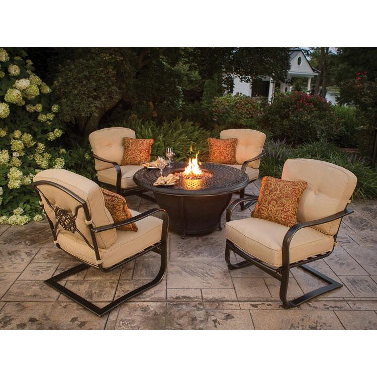 Best ideas about Outdoor Fire Pit Sets . Save or Pin Charleston 5 Piece Fire Pit Set rcwilley image1 800 Now.