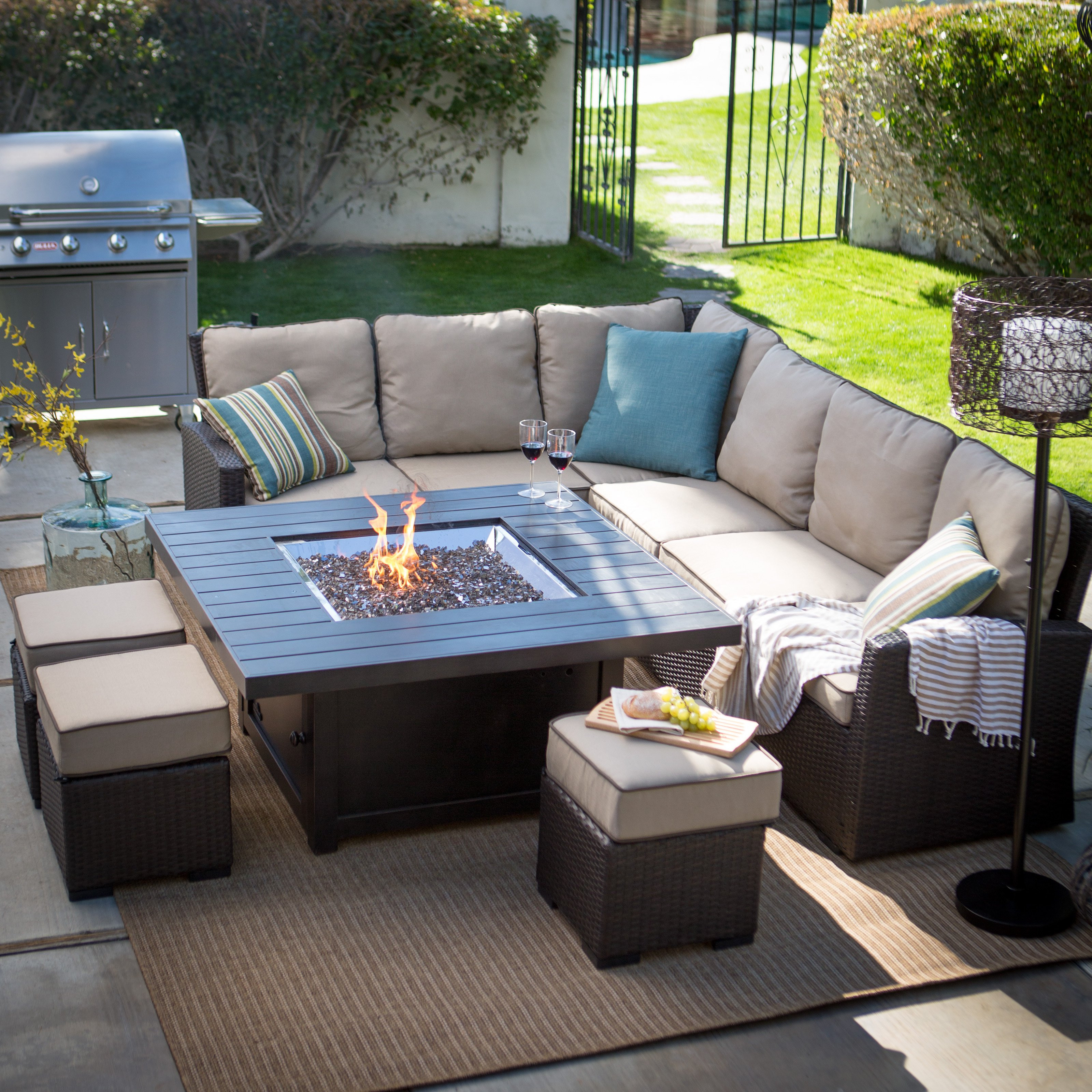 Best ideas about Outdoor Fire Pit Sets . Save or Pin Belham Living Monticello Fire Pit Chat Set Fire Pit Now.