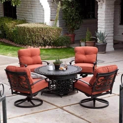Best ideas about Outdoor Fire Pit Sets . Save or Pin 5 Piece Patio Lounge Dining Set with Gas Fire Pit Outdoor Now.
