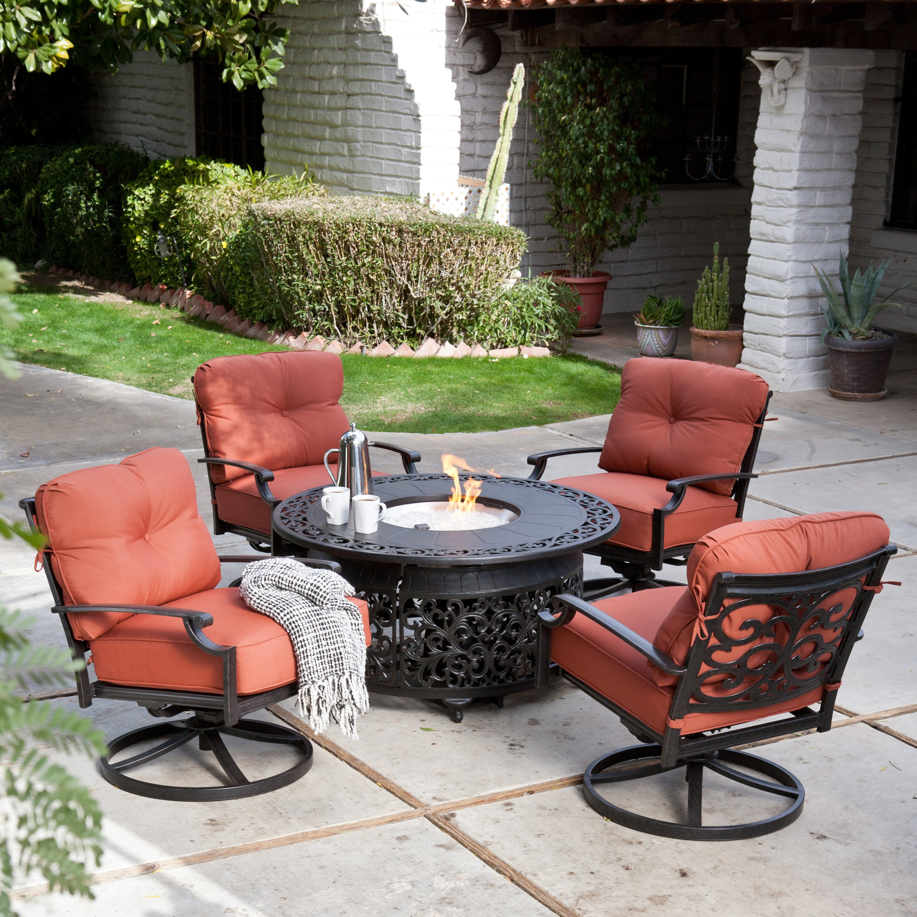 Best ideas about Outdoor Fire Pit Sets . Save or Pin Belham Living San Miguel Cast Aluminum Fire Pit Chat Set Now.