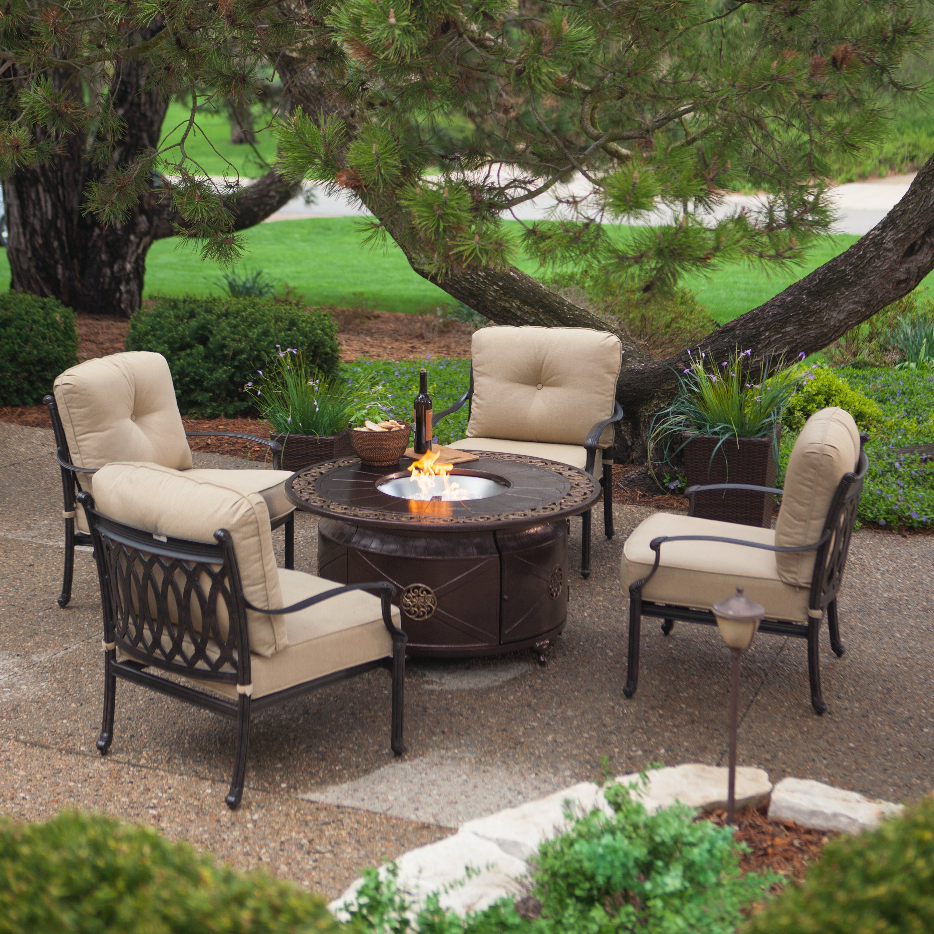 Best ideas about Outdoor Fire Pit Sets . Save or Pin Belham Living Palazetto Cast Aluminum Fire Pit Chat Set Now.