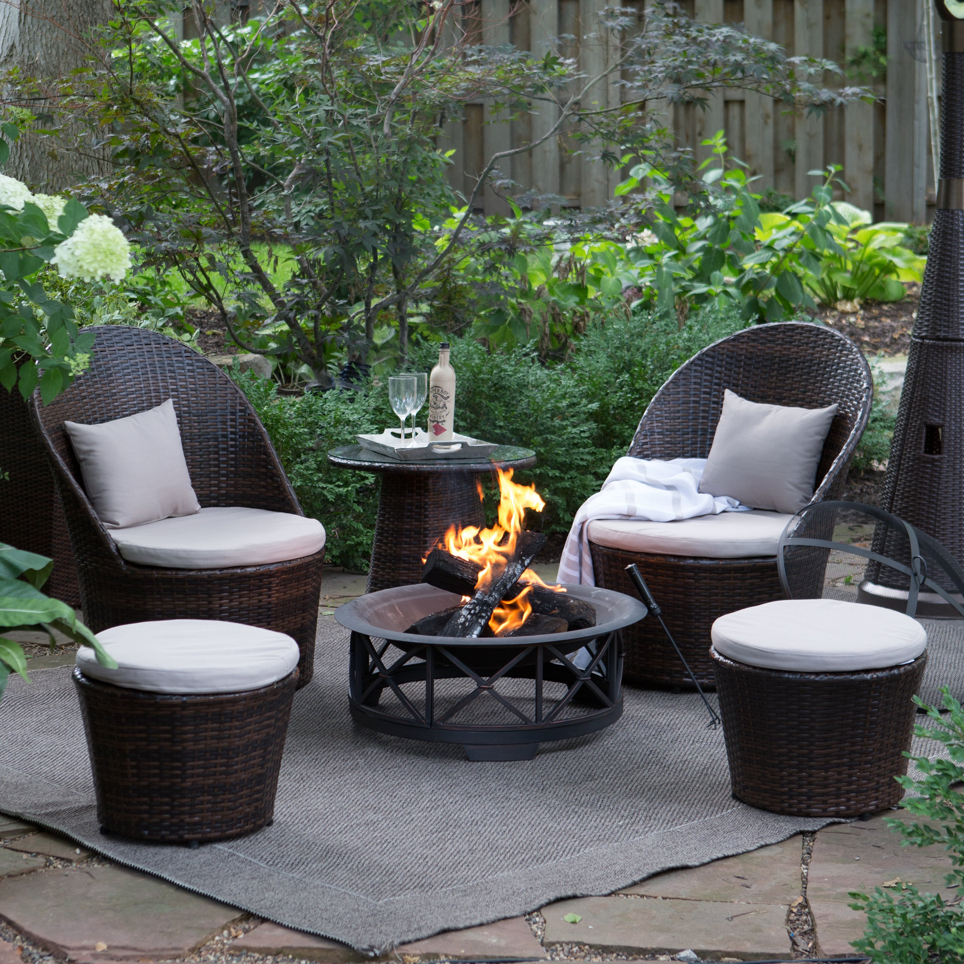 Best ideas about Outdoor Fire Pit Sets . Save or Pin Coral Coast Layton Wicker Outdoor Fire Pit Chat Set at Now.