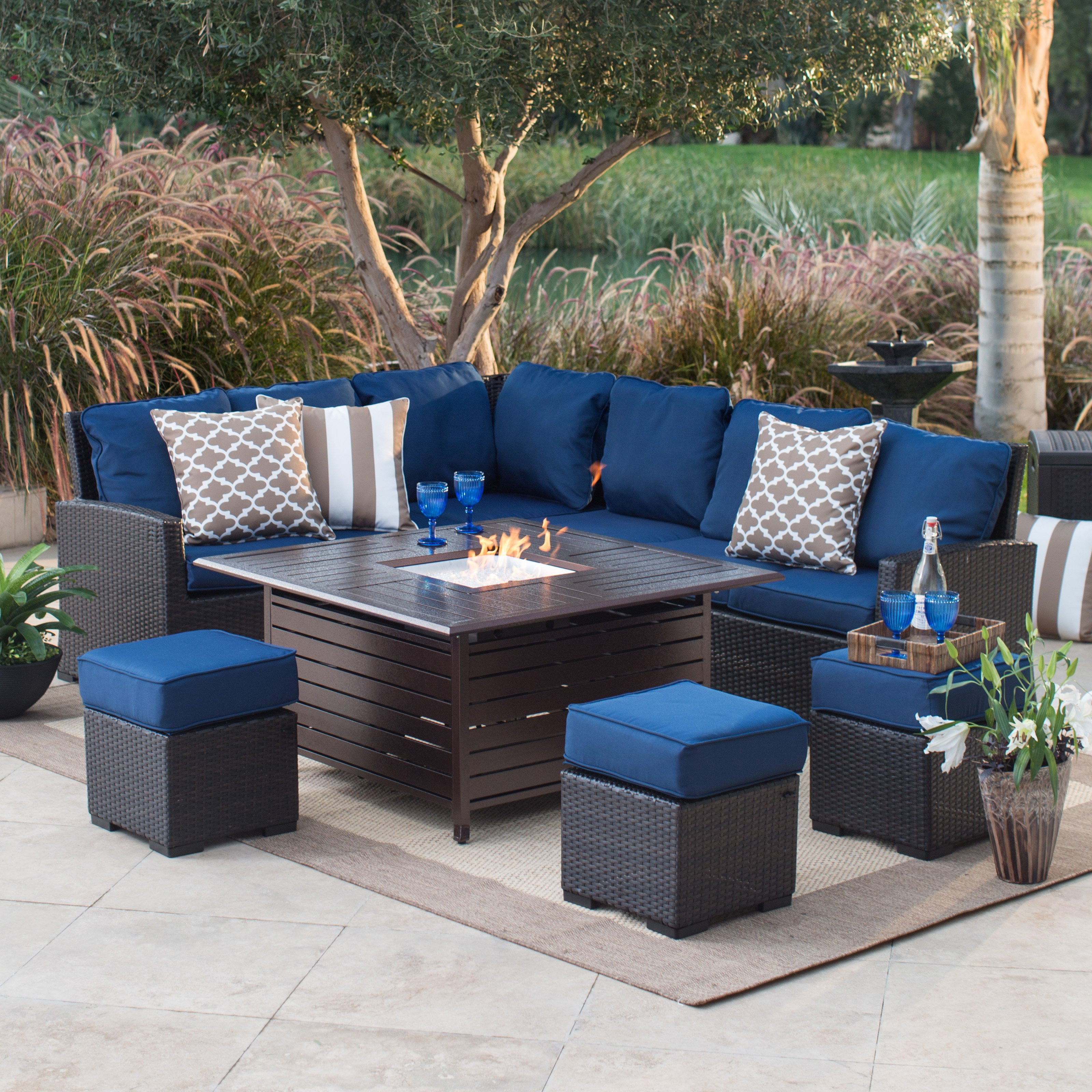 Best ideas about Outdoor Fire Pit Sets . Save or Pin Fire Pit Table Set on Hayneedle Patio Fire Pit Seating Now.