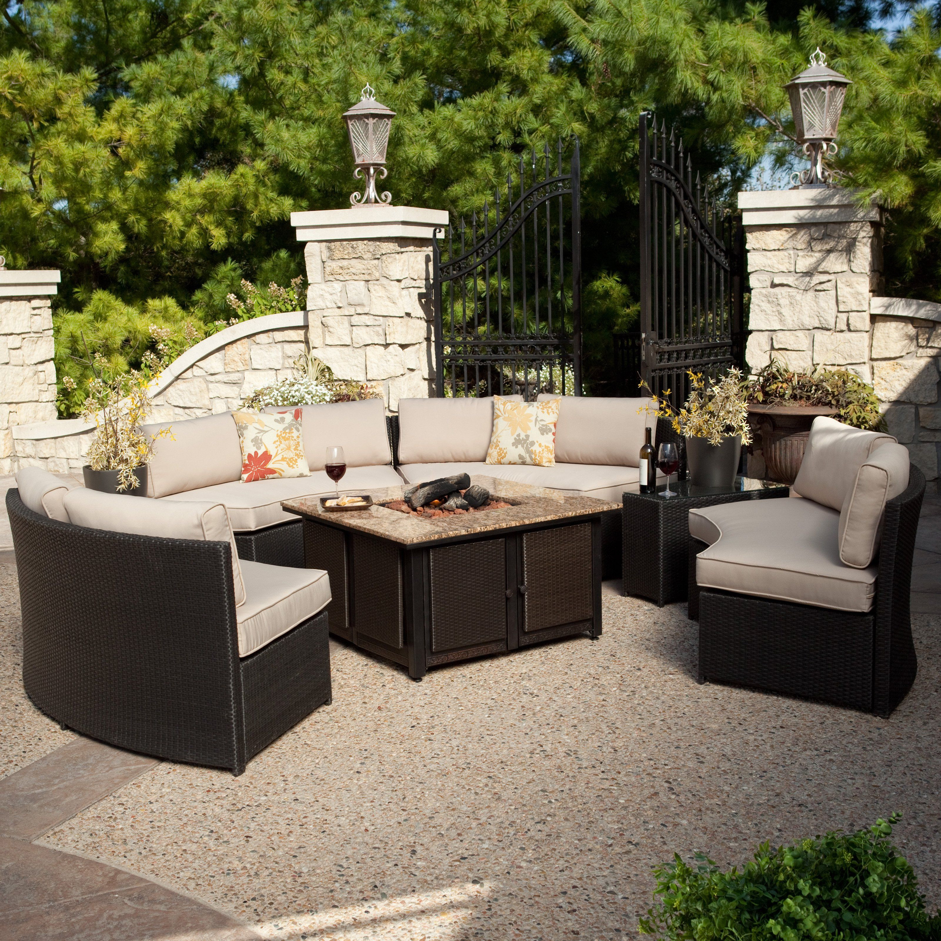 Best ideas about Outdoor Fire Pit Sets . Save or Pin Have to have it Belham Living Meridian All Weather Wicker Now.