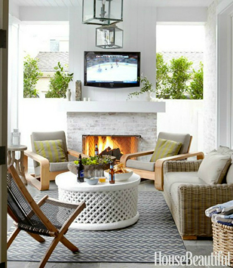 Best ideas about Outdoor Living Room . Save or Pin Coastal Home 10 Ways To To create summertime outdoor Now.