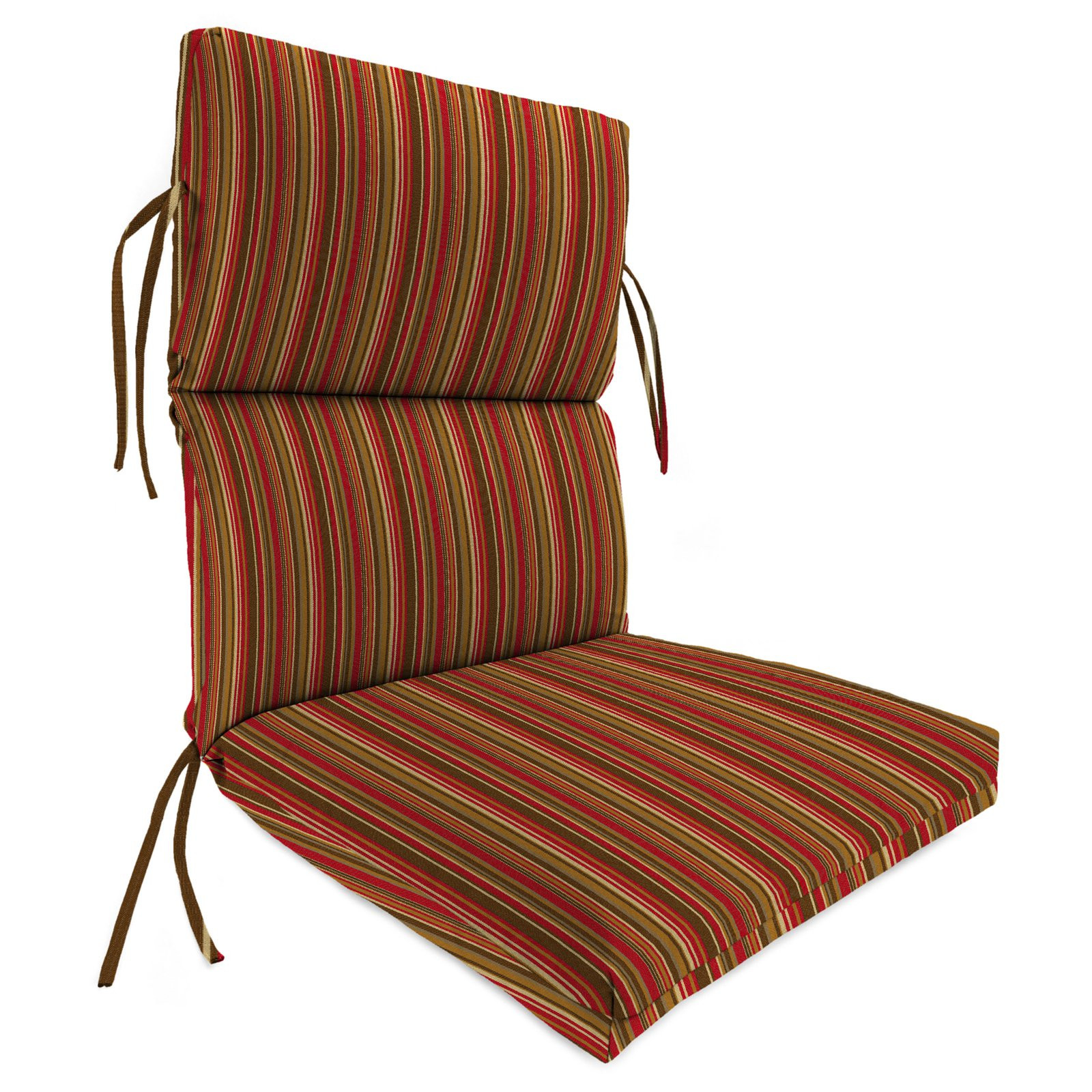 Best ideas about Outdoor Patio Chair Cushions . Save or Pin high back outdoor chair cushion for patio striped BLOCK Now.