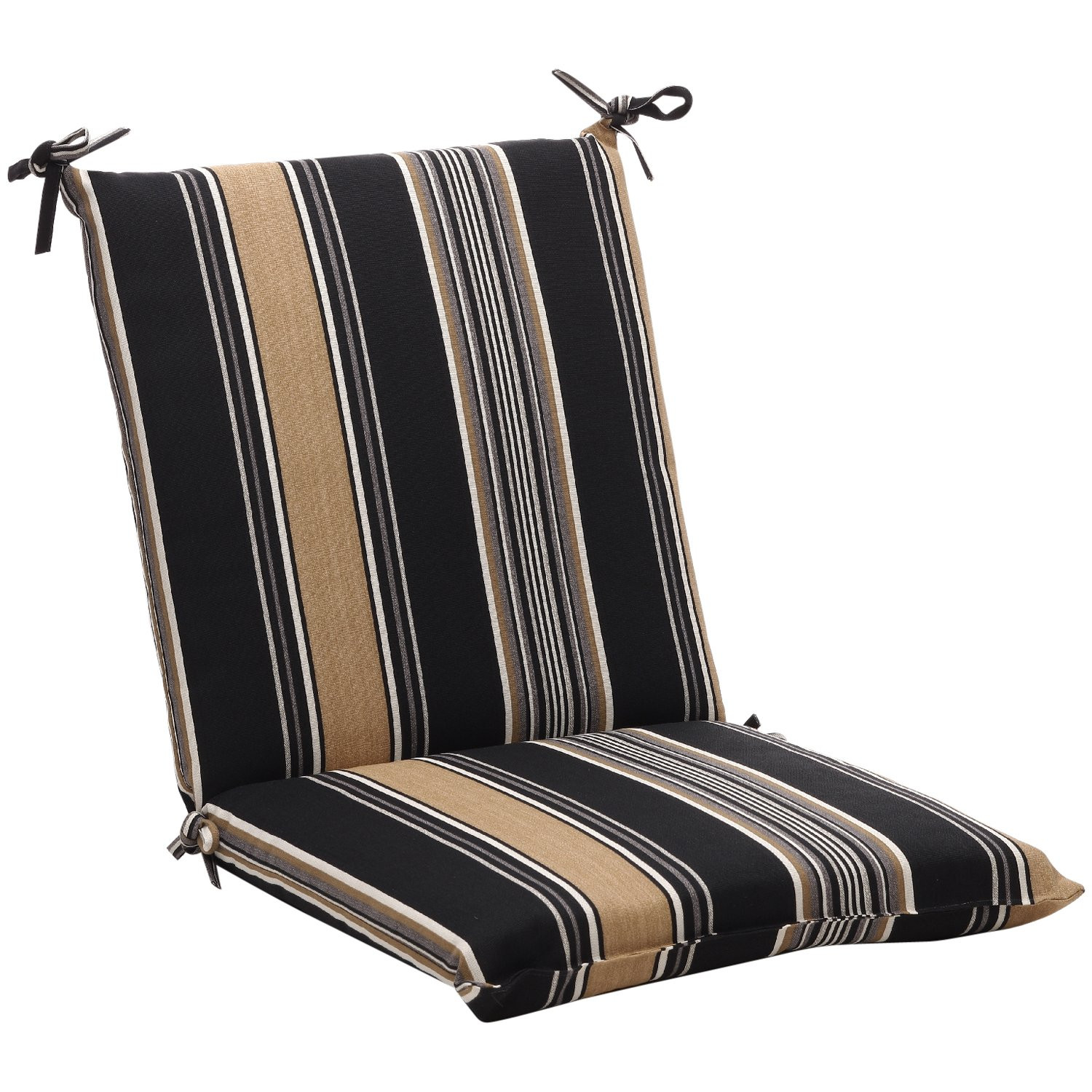 Best ideas about Outdoor Patio Chair Cushions . Save or Pin Squared Black Tan Stripe Outdoor Chair Cushion Free Now.