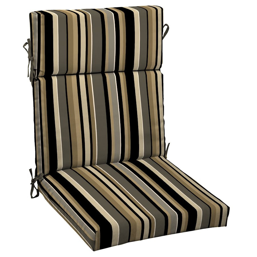 Best ideas about Outdoor Patio Chair Cushions . Save or Pin Garden Treasures Harrison Striped High Back Patio Chair Now.
