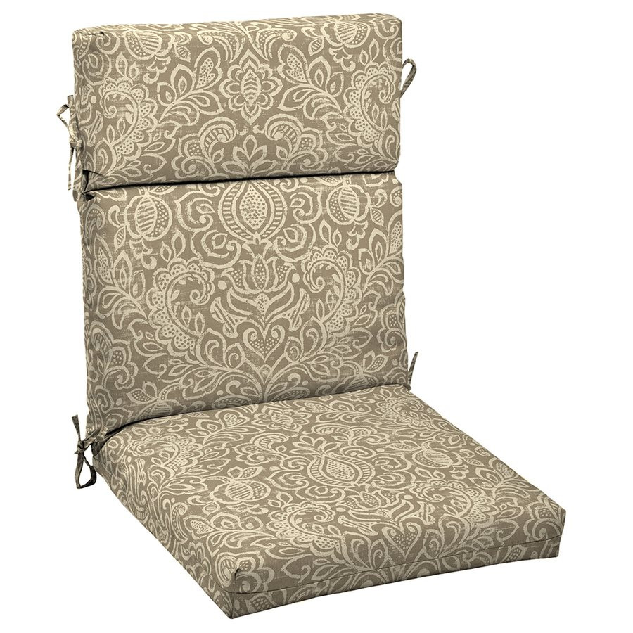 Best ideas about Outdoor Patio Chair Cushions . Save or Pin Garden Treasures Neutral Stencil High Back Chair Cushion Now.