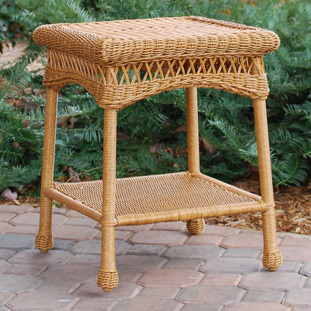 Best ideas about Outdoor Side Table . Save or Pin Tortuga Outdoor Portside Wicker Side Table WickerCentral Now.