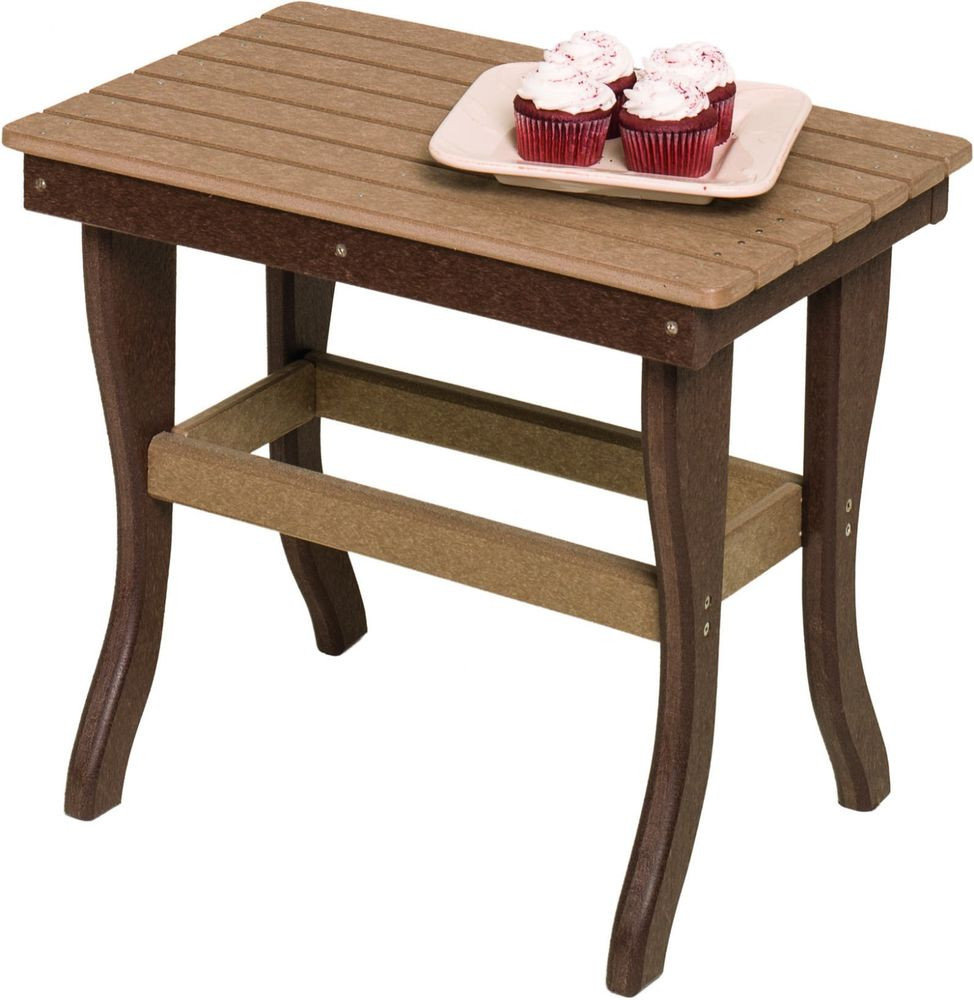 Best ideas about Outdoor Side Table . Save or Pin Poly Lumber Outdoor End Stand Side Table 18 Color Now.