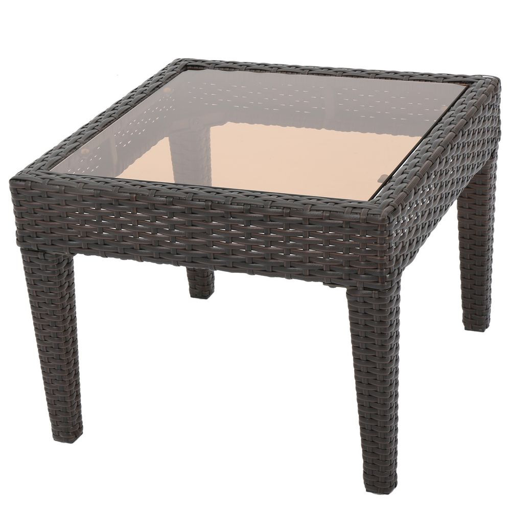 Best ideas about Outdoor Side Table . Save or Pin Contemporary Outdoor Brown Wicker Side Table Now.