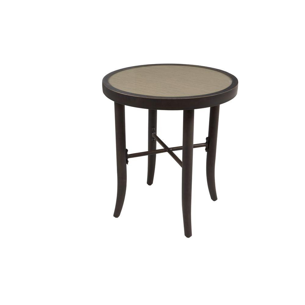 Best ideas about Outdoor Side Table . Save or Pin Hampton Bay Aria Patio Side Table FTS The Home Depot Now.
