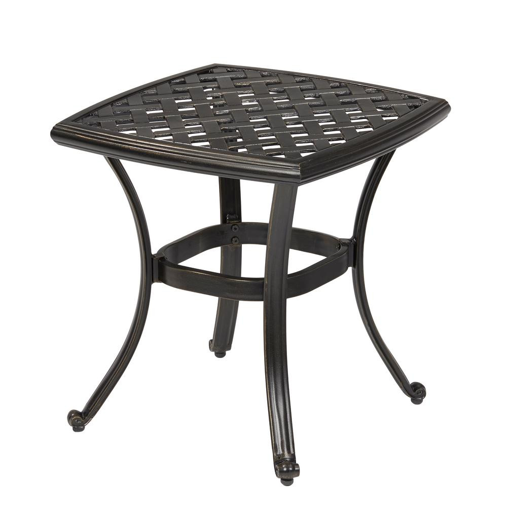 Best ideas about Outdoor Side Table . Save or Pin Hampton Bay Belcourt Metal Square Outdoor Side Table Now.