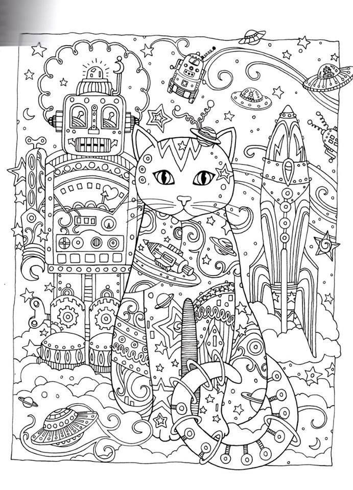 Outer Space Coloring Pages For Adults  Gallery Outer Space Adult Coloring Book Coloring Page