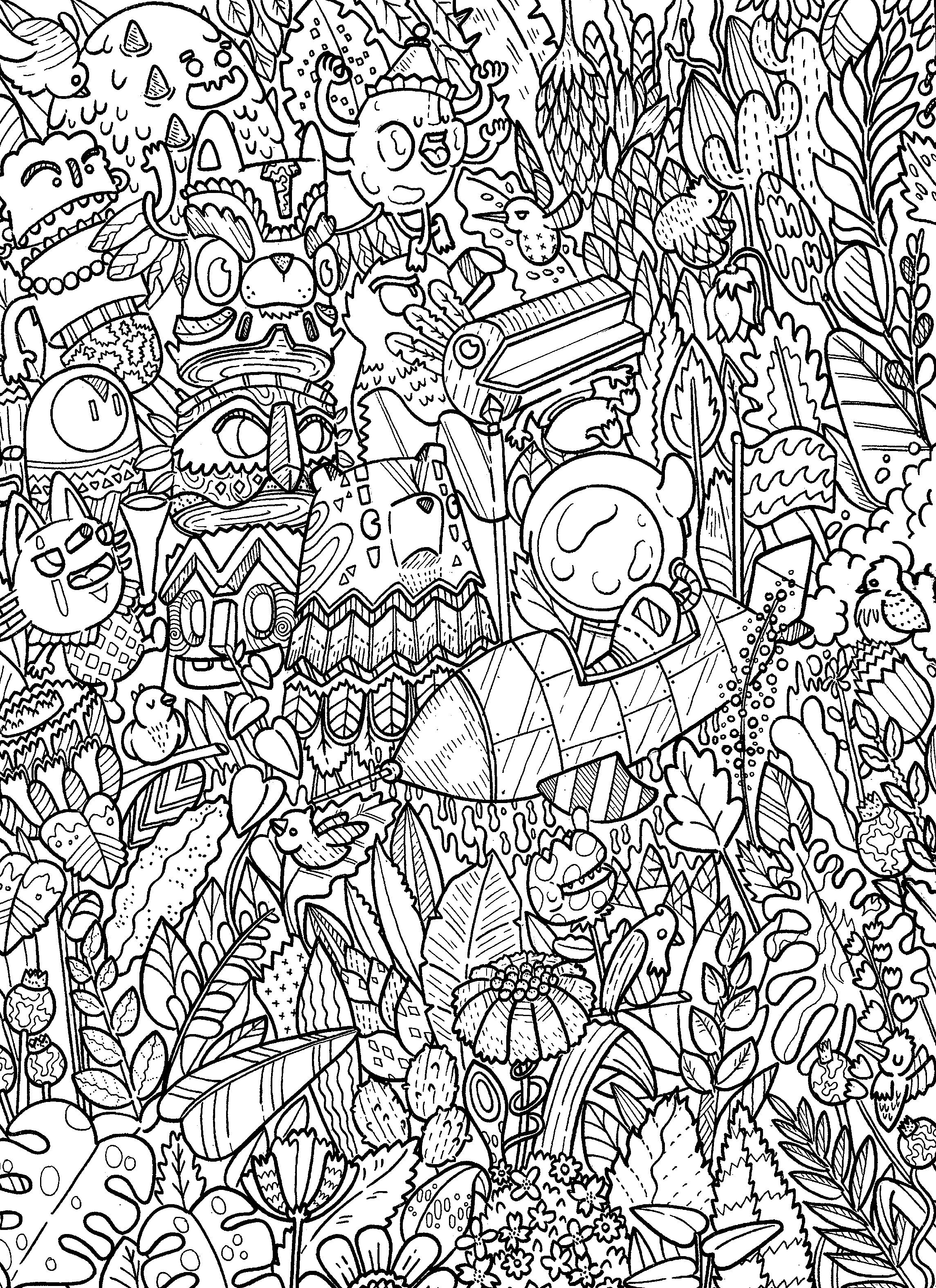 Outer Space Coloring Pages For Adults  doodle coloring book
