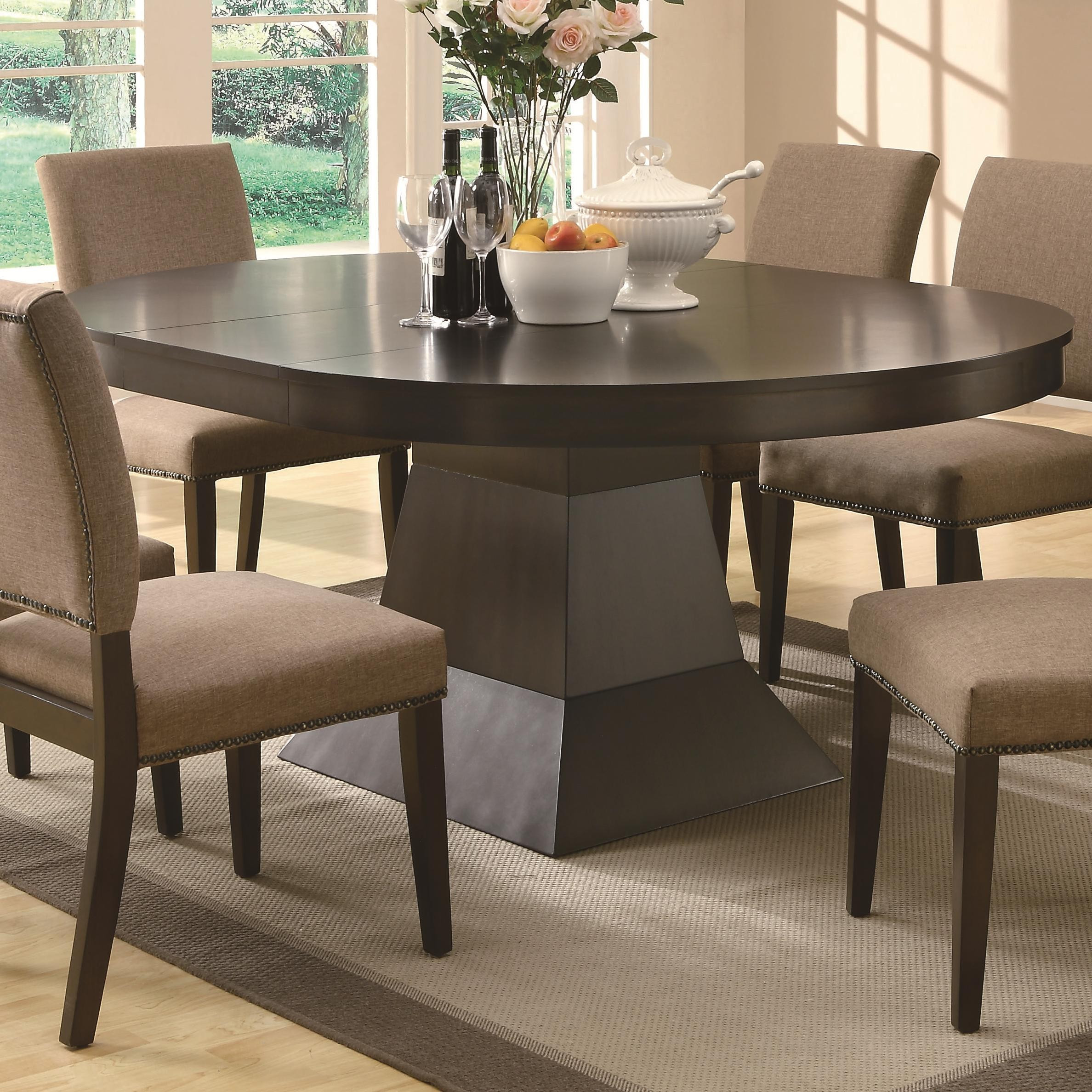 Best ideas about Oval Dining Table . Save or Pin Buy Myrtle Dining Oval Table w Extension by Coaster from Now.