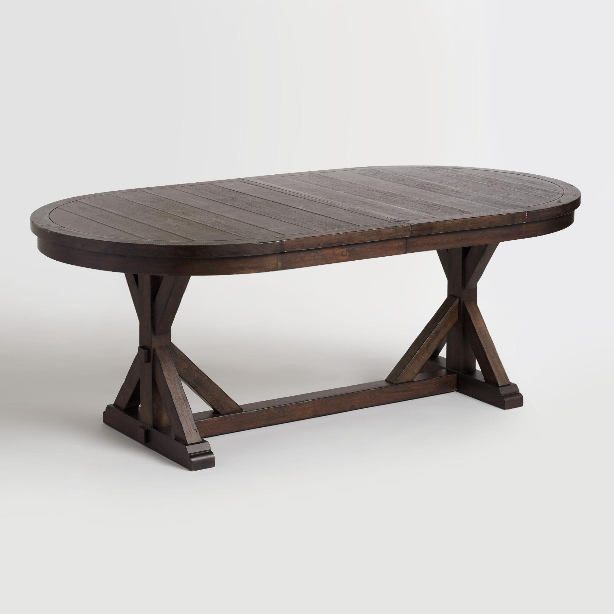 Best ideas about Oval Dining Table . Save or Pin Rustic Brown Oval Wood Brooklynn Extension Dining Table Now.