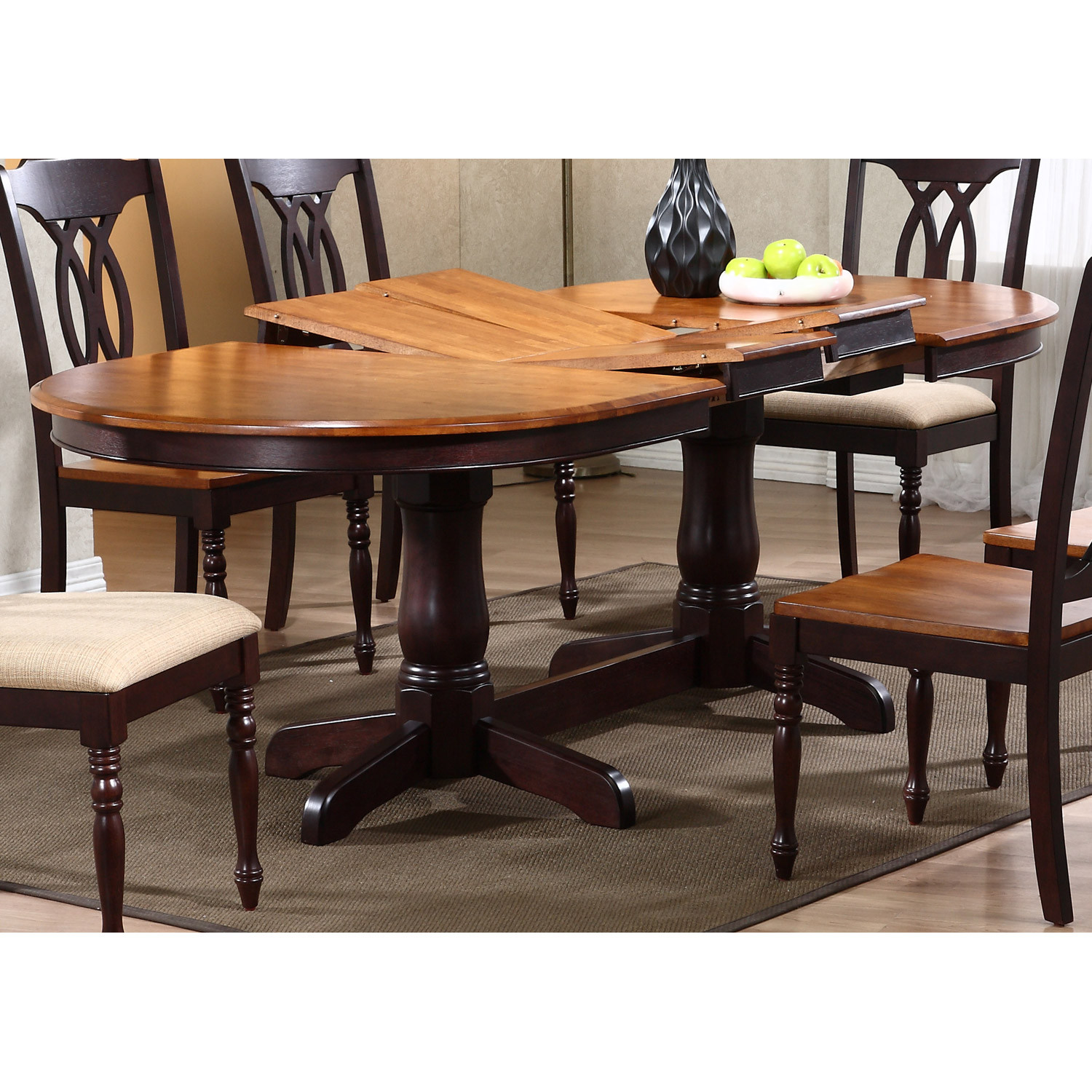 Best ideas about Oval Dining Table . Save or Pin Gatsby Oval Dining Table Double Butterfly Leaf Whiskey Now.