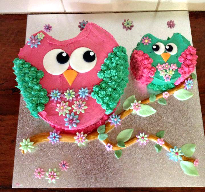 Owl Birthday Cake  Adorable Owl Themed Birthday Cakes Sassy Dealz