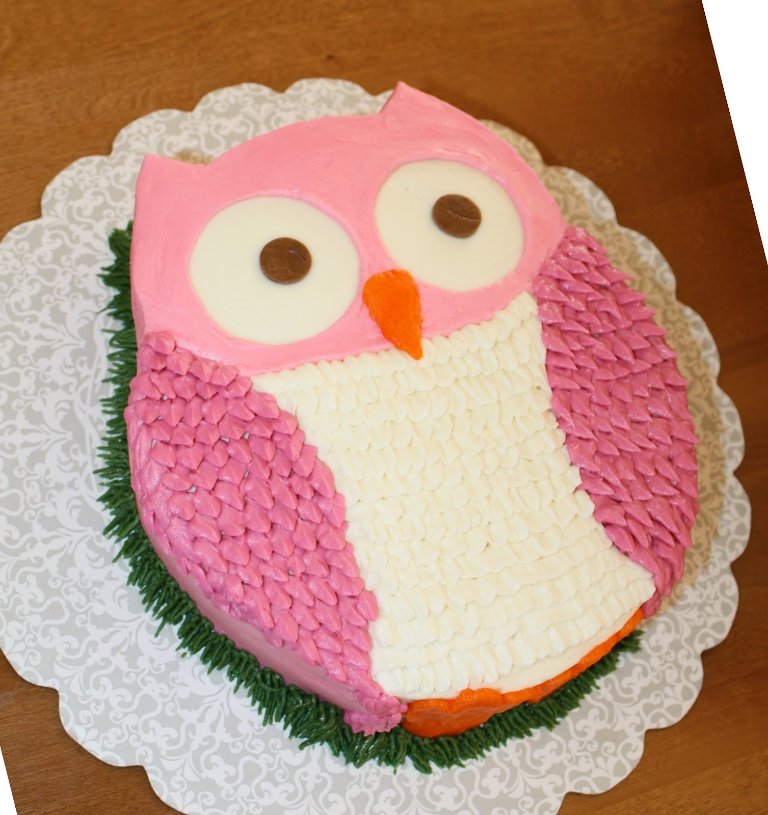 Owl Birthday Cake  Party Cakes Owl Cake for Ella