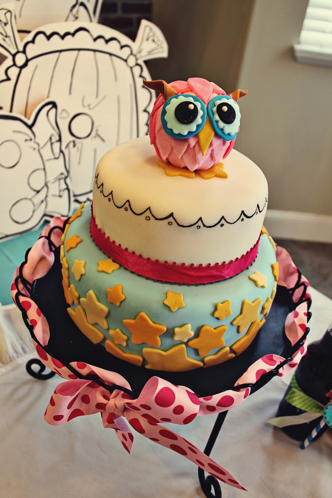 Owl Birthday Cake  Pull out a Plum Owl Cake