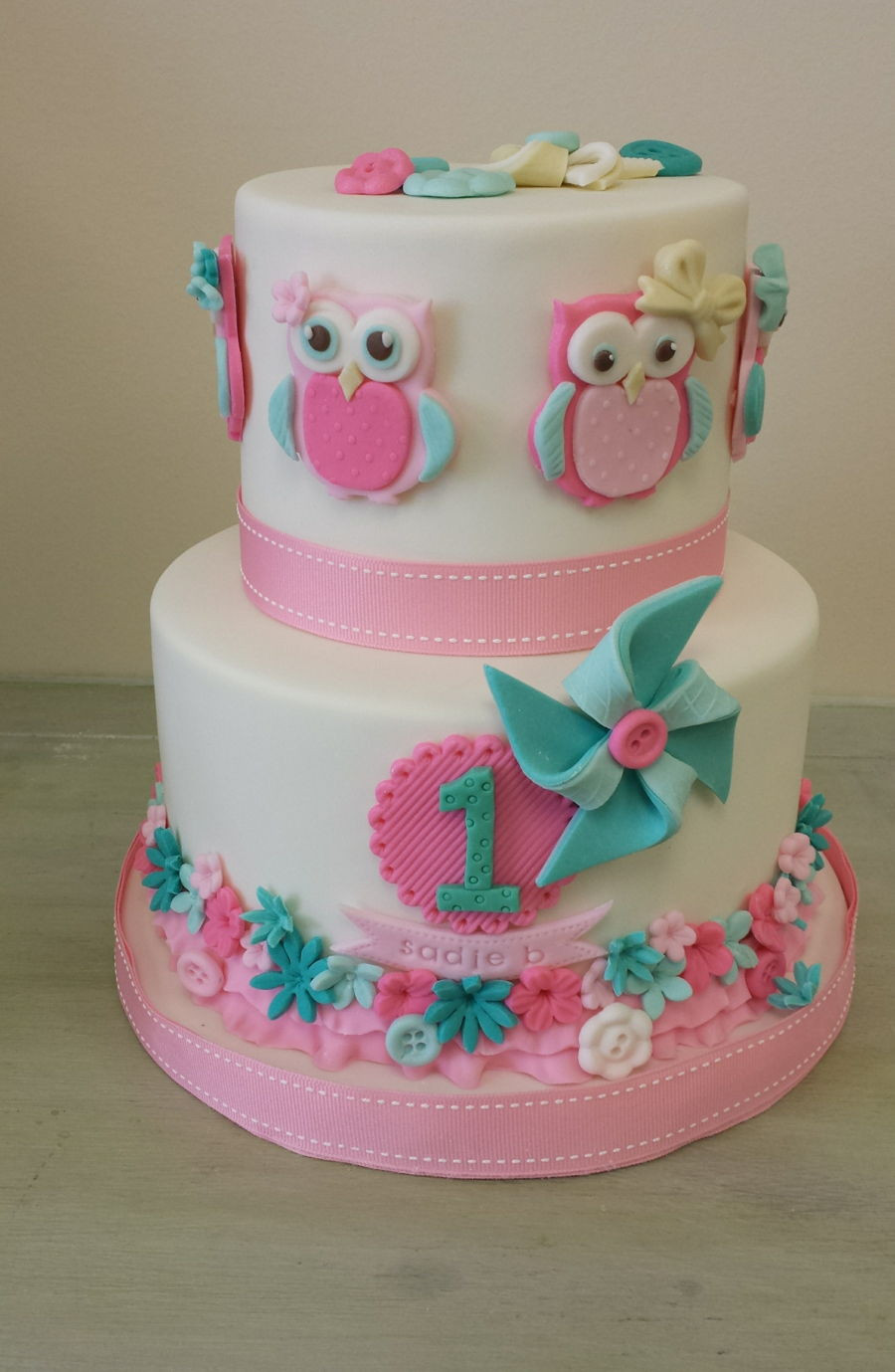 Owl Birthday Cake  Owl Themed Birthday Cake CakeCentral