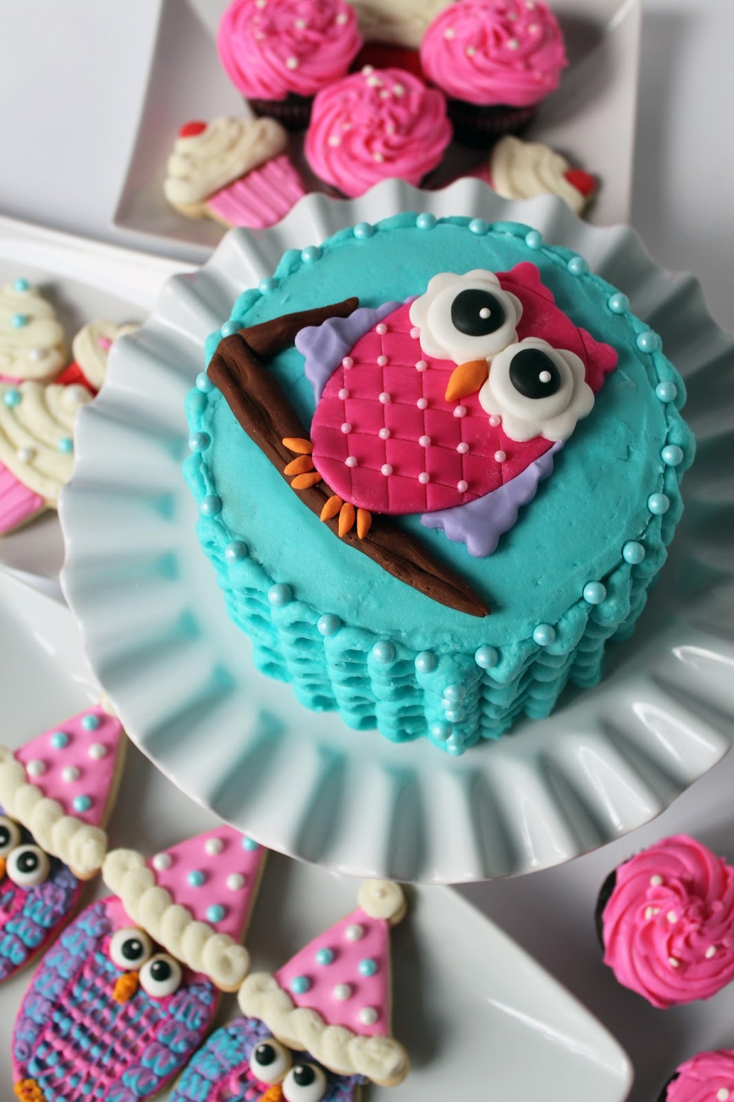 Owl Birthday Cake  Worth Pinning Owl Smash Cake for 1st Birthday