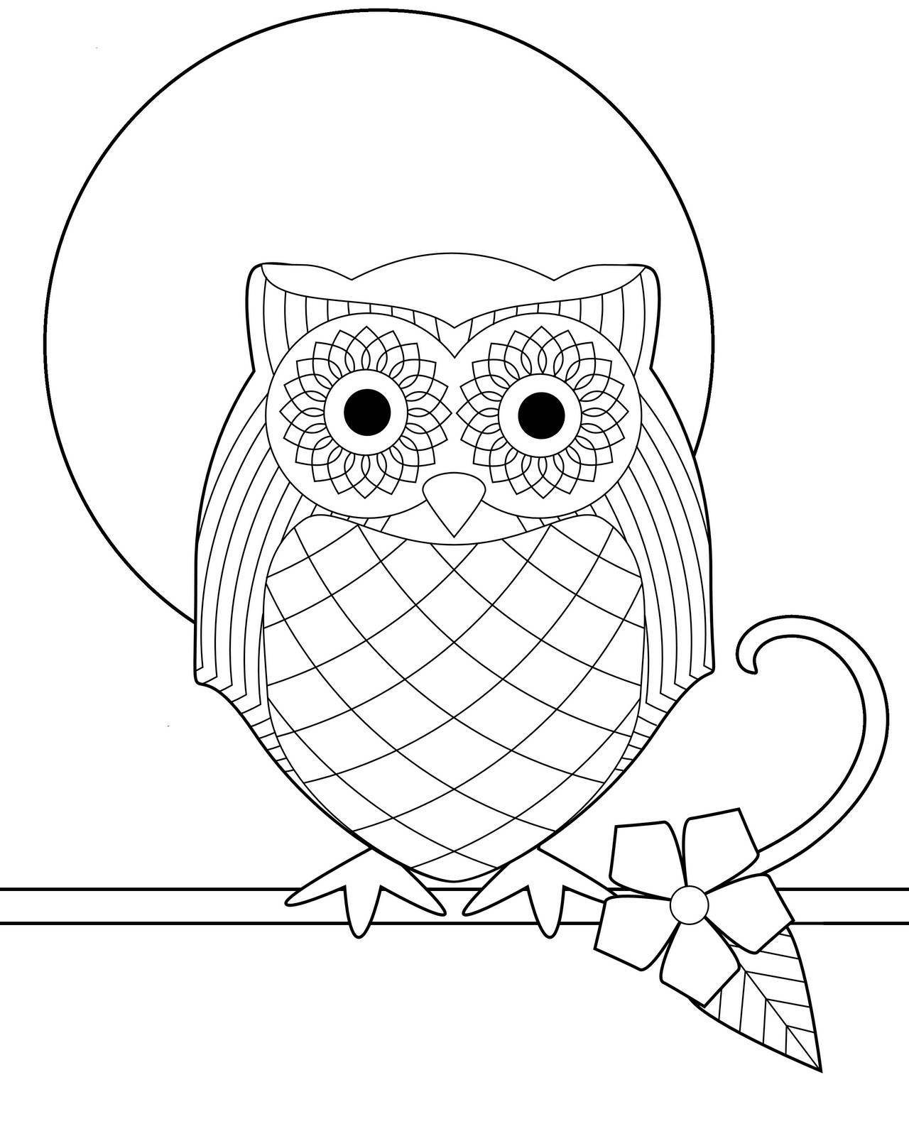 Owl Coloring Pages For Kids Printable  Free Printable Owl Coloring Pages For Kids