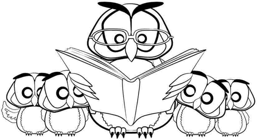 Owl Coloring Pages For Kids Printable  Cute Printable Owl Coloring Pages for Kids