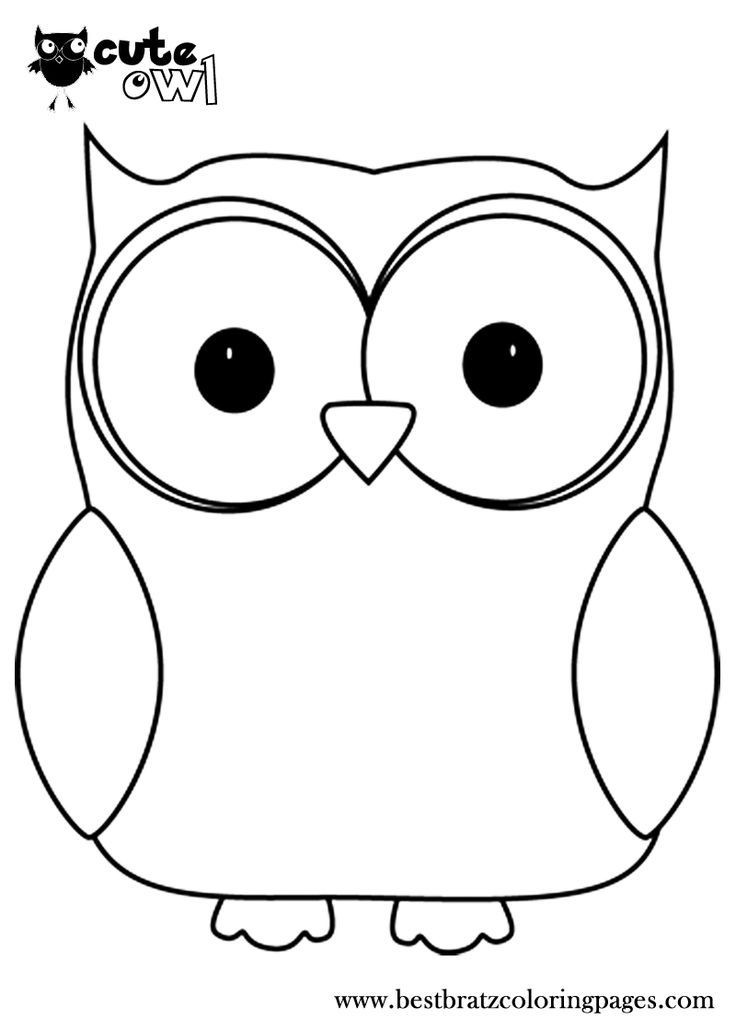 Owl Coloring Pages For Kids Printable  Owl Print Out Coloring Pages