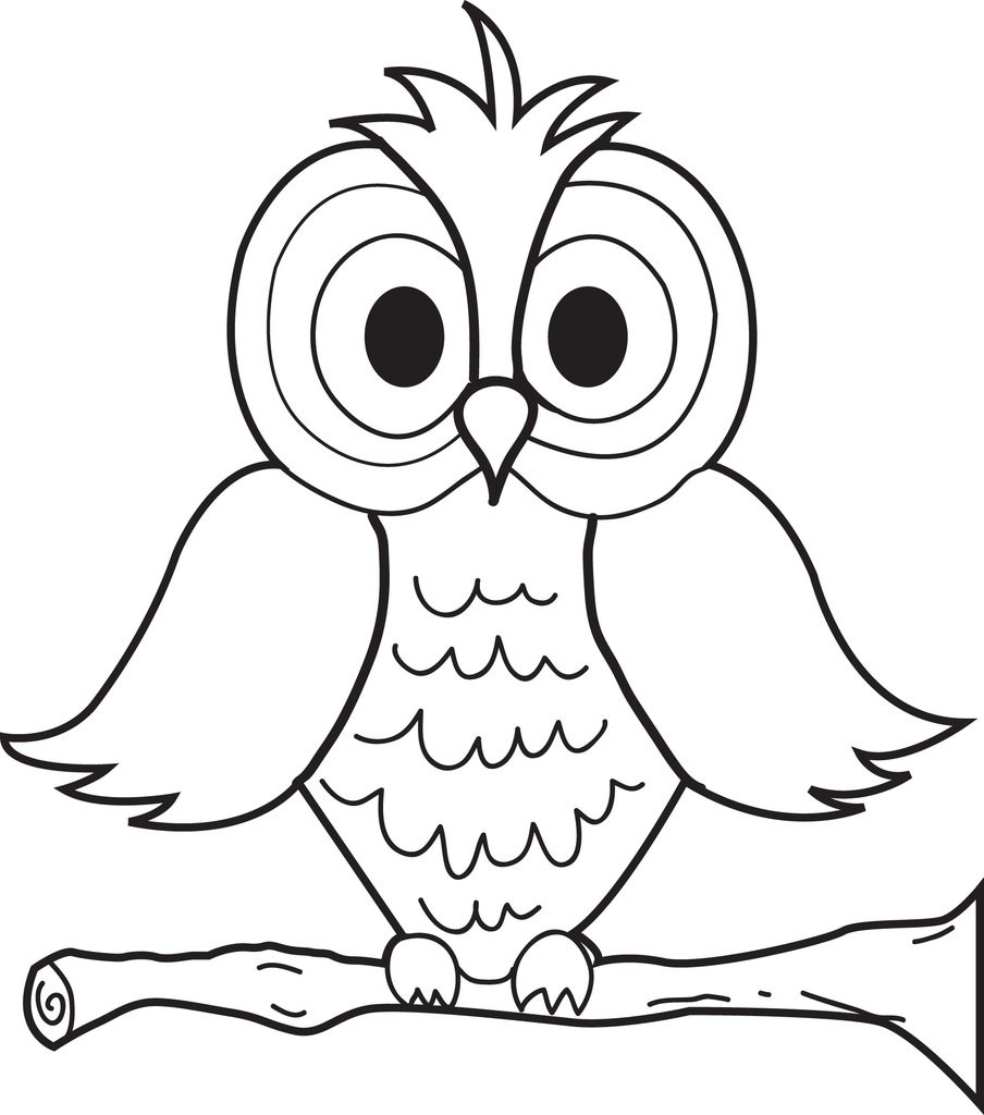 Owl Coloring Pages For Kids Printable  Free Printable Cartoon Owl Coloring Page for Kids – SupplyMe