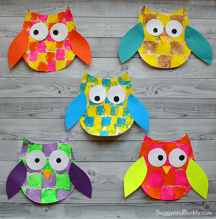 Best ideas about Owl Crafts For Preschoolers . Save or Pin Sponge Painted Owl Craft for Kids with Owl Template Now.
