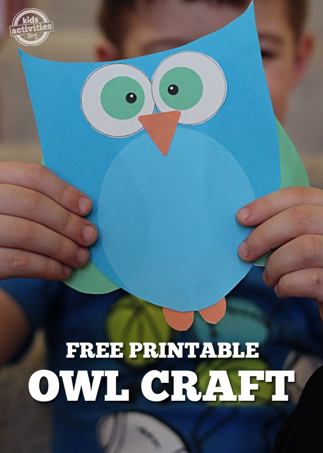 Best ideas about Owl Crafts For Preschoolers . Save or Pin Super Cute Printable Owl Craft Choose Pink or Blue Now.