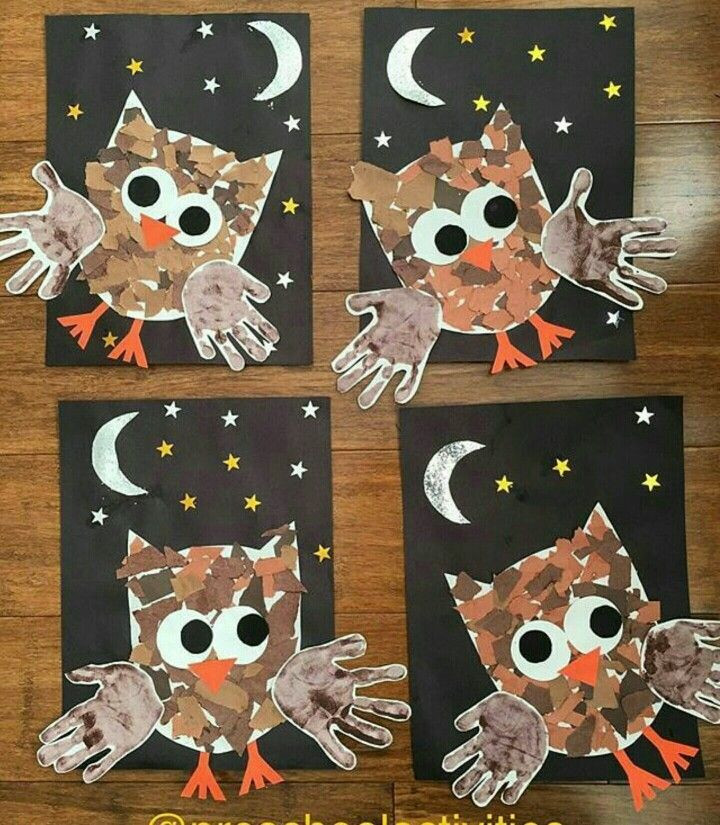 Best ideas about Owl Crafts For Preschoolers . Save or Pin 422 best Handprint Animals crafts for kids images on Now.