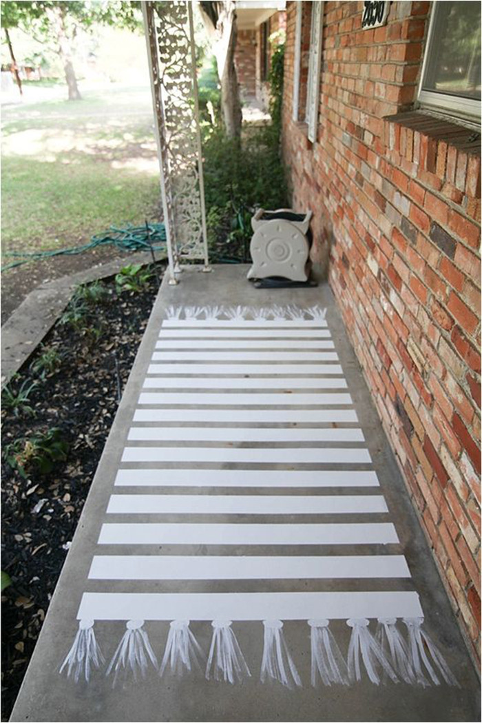 Best ideas about Painted Concrete Patio . Save or Pin DIY to try painted front porch floor Ohoh Blog Now.