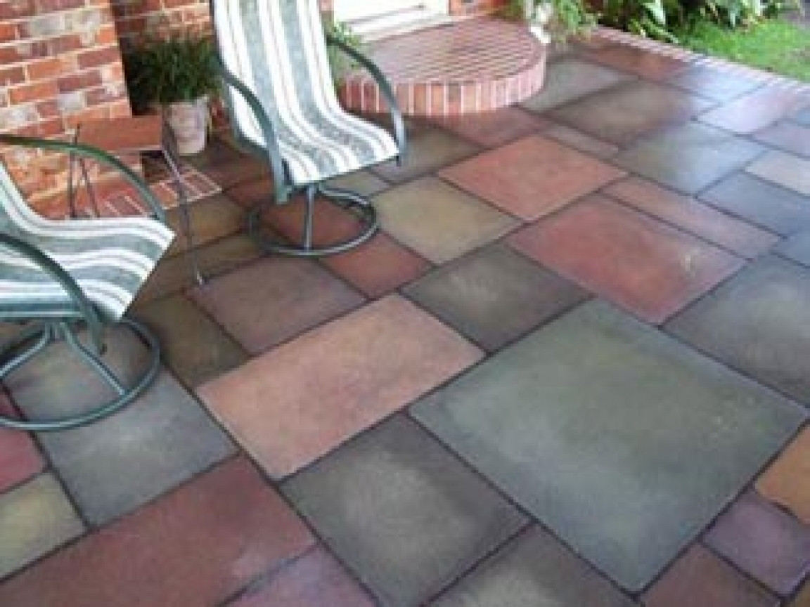 Best ideas about Painted Concrete Patio . Save or Pin Stone patterns for patios painted concrete patio Now.
