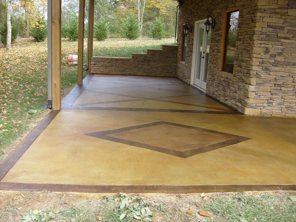 Best ideas about Painted Concrete Patio . Save or Pin Cement Patio Paint Now.