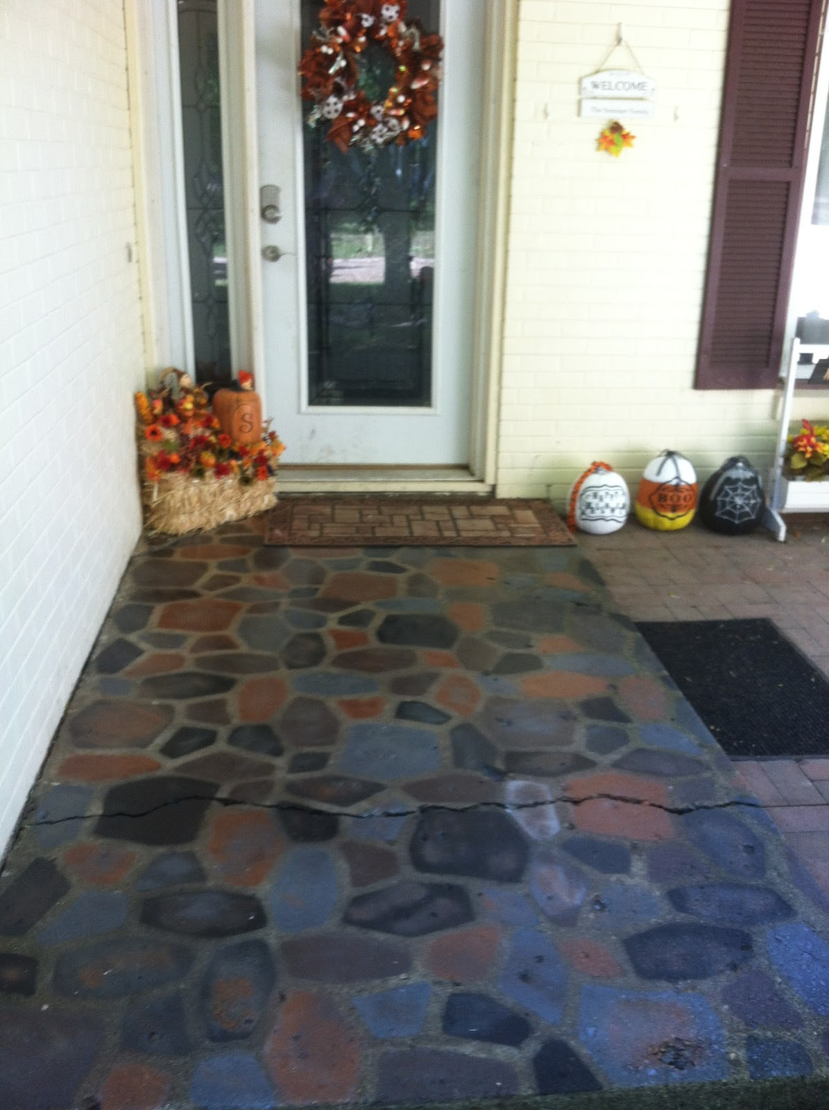 Best ideas about Painted Concrete Patio . Save or Pin Painted Patio Pavers Now.