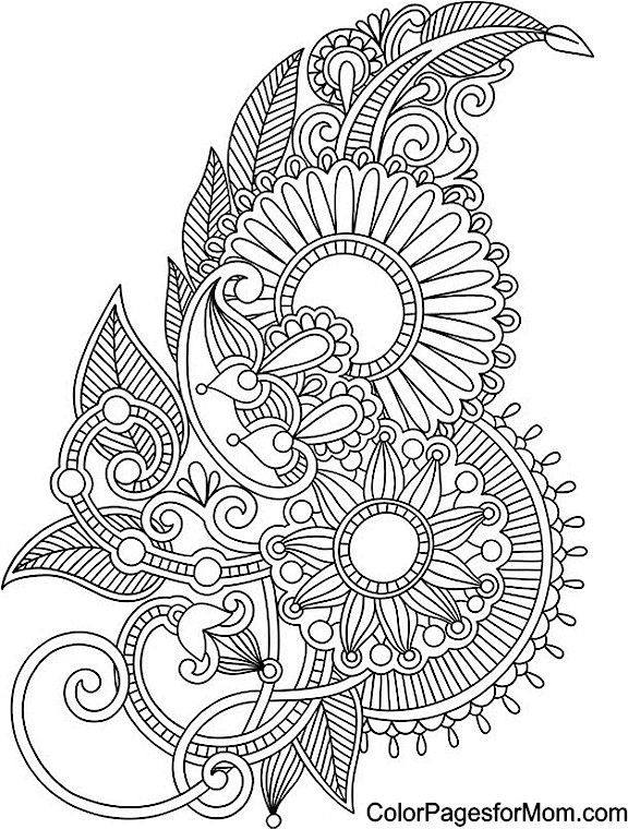 Paisley Coloring Books  63 Adult Coloring Pages To Nourish Your Mental Visual