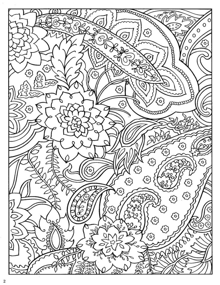 Paisley Coloring Books  coloring pages paisley pattern