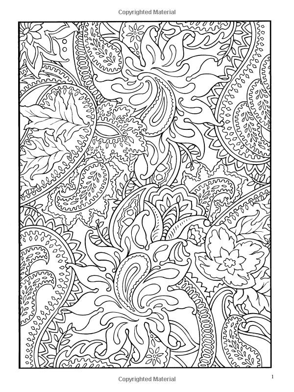 Paisley Coloring Books  PAISLEY COLORING PAGE Random Pinterest
