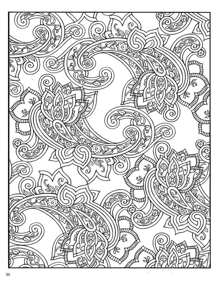 Paisley Coloring Books  Dover Paisley Designs Coloring Book