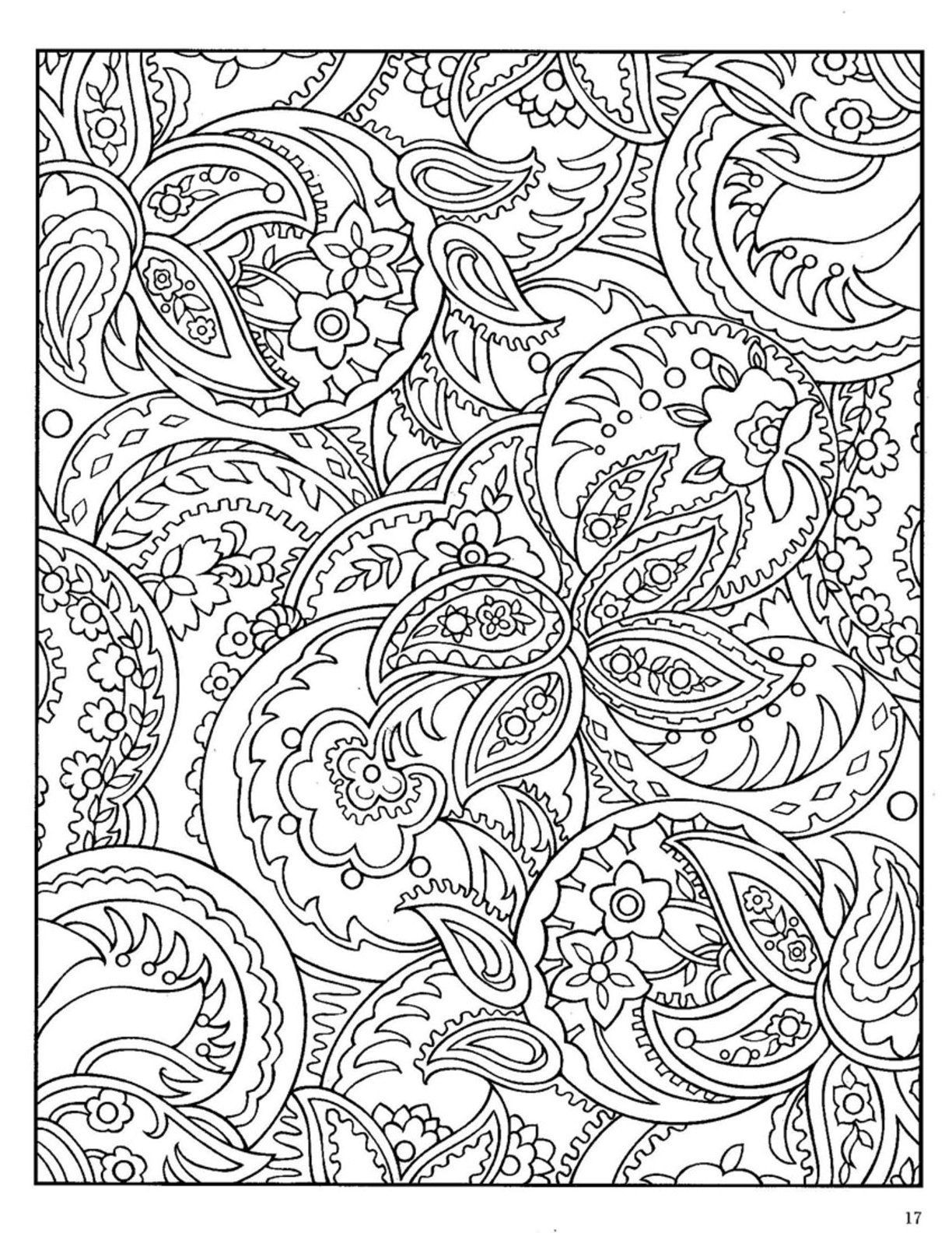 Paisley Coloring Books  Paisley Pattern Coloring Pages Coloring Home
