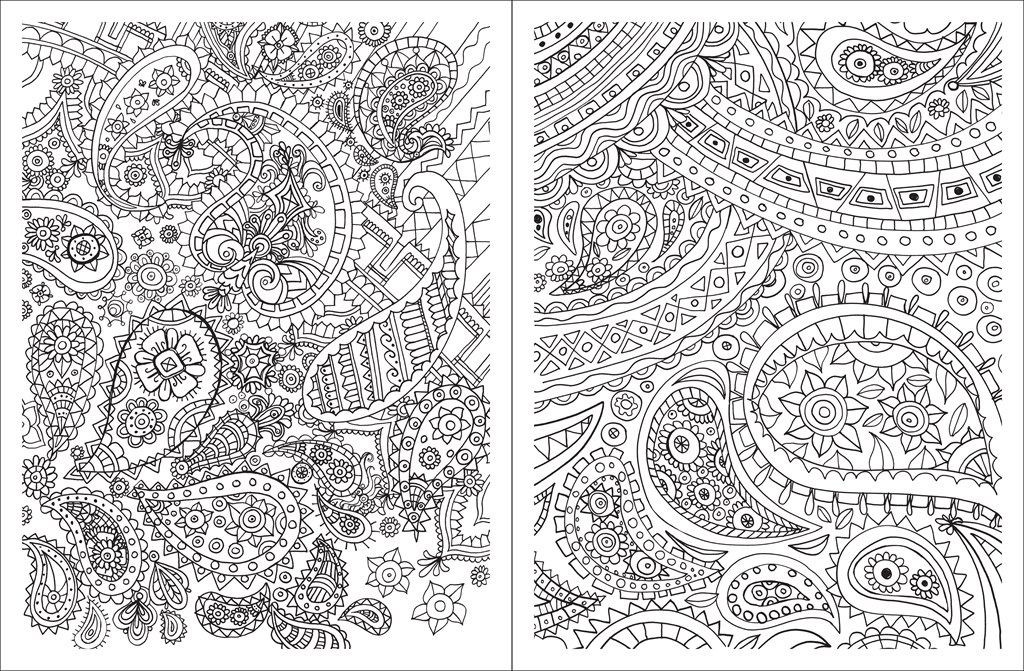 Paisley Coloring Books  Paisley Design Coloring Pages AZ Coloring Pages