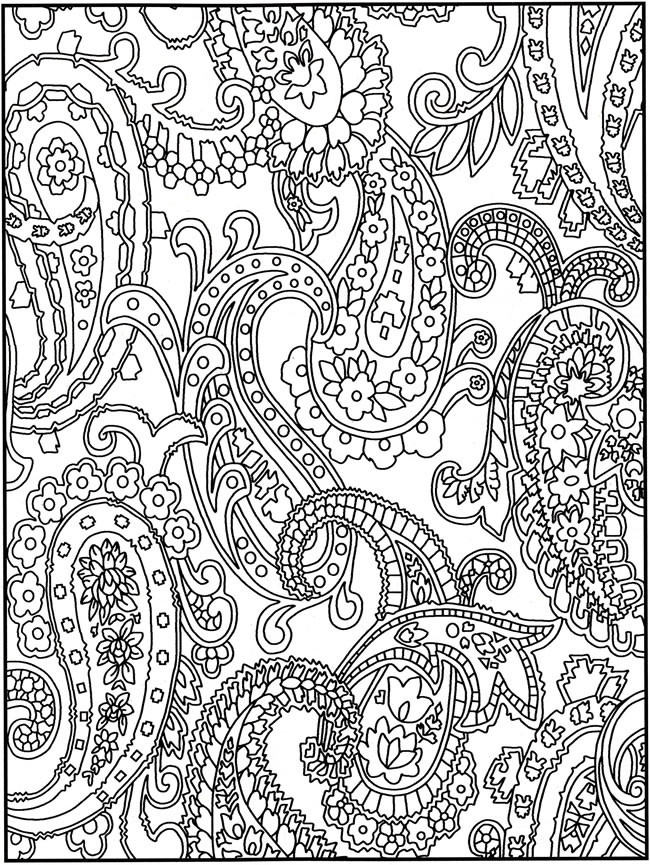 Paisley Coloring Books  14 Crazy Designs Coloring Pages Crazy Pattern