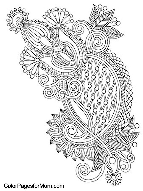 Paisley Printable Coloring Pages  9 Best of Paisley Coloring Pages Printable