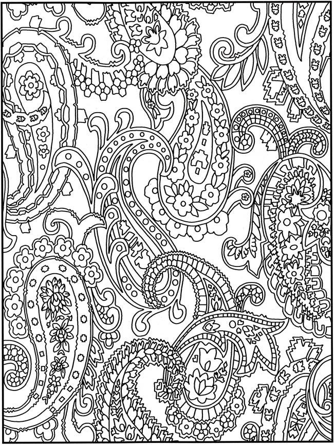 Paisley Printable Coloring Pages  Free Printable Paisley Coloring Pages For Adults AZ