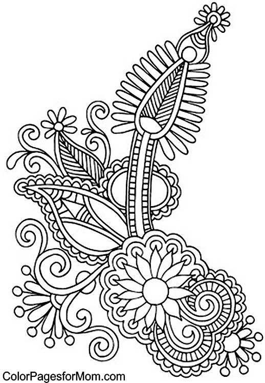 Paisley Printable Coloring Pages  Paisley Free Colouring Pages